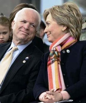 McCain and Hillary Clinton