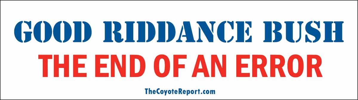GOOD RIDDANCE BUMPER STICKER